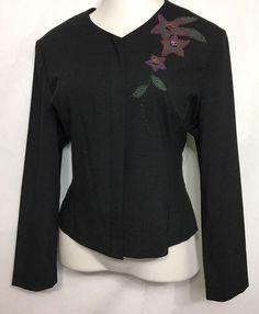 ADRIANNA PAPELL Gray Blazer Size 14 (see measurements) / Button Down Jacket  #AdriannaPapell #Blazer
