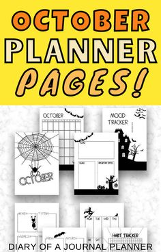 The best printable planner pages for October! #halloween #plannerpages #Bulletjournal Bullet Journal Layout Templates, Bullet Journal Printables, Printable Planner Pages, Bullet Journals, Planner Sheets, Bullet Journal How To Start A, Perfect Planner, Shop Price, Mood Tracker