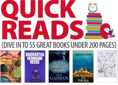 [Infographic] 55 Great Books Under 200 Pages :http://abookloversdiary.com/2016/09/infographic-55-great-books-200-pages/