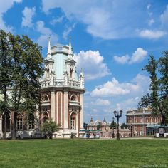 Tsaritsyno Museum-Reserve in Moscow, Russia
