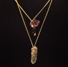 New Smokey &Crystal Quartz Necklace · Good Vibration Crystals · Online Store Powered by Storenvy