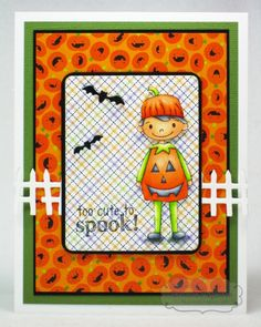 TOO CUTE TO SPOOK Card by Tammie Edgerton #Halloween, #Cardmaking