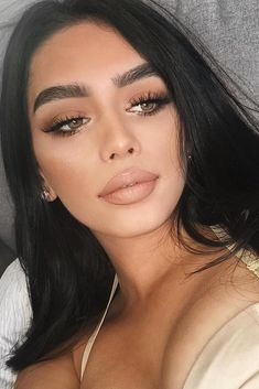 glam makeup looks; makeup looks for brown eyes; simple makeup looks. Natural Makeup For Brown Eyes, Makeup Looks For Brown Eyes, Best Natural Makeup, Natural Brown, Brown Eyed Makeup, Make Up Brown Eyes, Makeup For Brown Eyed Girls, Bridal Makeup Natural Brunette, Makeup Looks Everyday