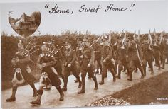 Scots Guards returning from a route march.
