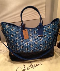 Cole Haan Crosby Nwt! Soho Weave Woven Leather Satchel Crossbody Handbag Blue Topaz Multi Tote Bag. Get one of the hottest styles of the season! The Cole Haan Crosby Nwt! Soho Weave Woven Leather Satchel Crossbody Handbag Blue Topaz Multi Tote Bag is a top 10 member favorite on Tradesy. Save on yours before they're sold out! GORGEOUS GIFT!!! BIG SALE NOW!!! $227.10 FREE SHIPPING & NO TAX!!! WOW!!!