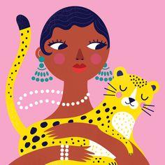 Personal portrait illustration of Josephine Baker. Magazine Illustration, Fun Illustration, Portrait Illustration, Visual Communication Design, Kids Art Class, Josephine Baker, Alphabet Print, Freelance Graphic Design, Journal Covers
