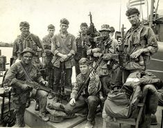 Green Berets also konwn as Delta force were the most famous special forces group. Here with Stoner guns.