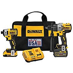 Dewalt Flexvolt Hammer drill Impact driver Cordless Combo Kit Lithium battery for sale online Cordless Power Tools, Cordless Hammer Drill, Concrete Tools, Dewalt Tools, Chisel Set, Thing 1, Impact Driver, Drill Driver, Xbox 360