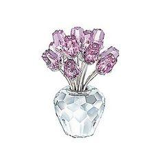Swarovski Crystal Dozen Pink Roses - Valentine's Day Roses Gift Ideas