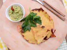 Receta | Guacamole y quesadilla de salmón - canalcocina.es