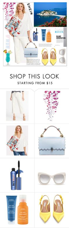 """""""Shein"""" by natalyapril1976 on Polyvore featuring Mode, Fendi, Benefit, Le Specs Luxe, Aveda, Tabitha Simmons und TIKI"""