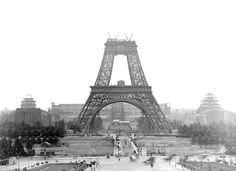 """The Tour Eiffel is really a sign of Paris. It is the most identifiable feature of the city and, in reality, the world. Found in the arrondissement, the Eiffel Tower was a marvel of """"modern"""" engineering. Vintage Paris, Paris Torre Eiffel, Paris Eiffel Tower, Eiffel Towers, Famous Buildings, Famous Landmarks, Paris Images, Paris Photos, Construction Tour Eiffel"""