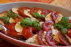 Caprese - Tomatoes, Mozzarella and Basil Salad - From ginger, lemon & spice's blog