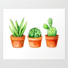 You are in the right place about Cactus photography Here we offer you the most beautiful pictures about the Cactus quotes you are . art decoracion dibujo diy garden indoor painting plants drawing appartement bathroom home decor wood room decor Watercolor Succulents, Watercolor Flowers, Watercolor Paintings, Watercolors, Cactus Painting, Cactus Art, Plant Illustration, Watercolor Illustration, Gouache