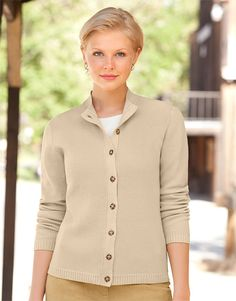 Just found this Womens Cardigan Sweater - Shaker-Knit Mockneck Cardigan -- Orvis on Orvis.com!