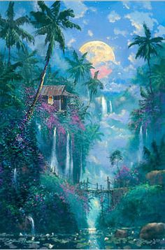 James Coleman Limited Edition Giclee on Canvas Hawaiian Dream