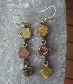 One of a Kind Natural Citrine Peridot Ruby by JennKoDesign on Etsy, $95.00