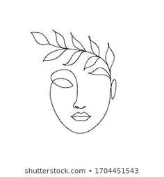 Vector de stock (libre de regalías) sobre Dibujo de una línea mujer de1680201313 Easy Doodles Drawings, Mini Drawings, Simple Line Drawings, Abstract Face Art, Abstract Drawings, Plakat Design, Outline Art, Line Art Design, Minimalist Drawing