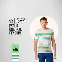 Los mejores t-shirts los encuentras en Tiendas PALM.  Camiseta Original Penguin U$32
