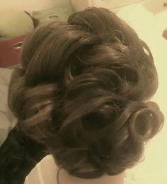 Long hair updo
