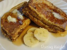 Peanut Butter Banana French Toast - Feingold Friendly (not GF)