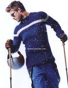 Men's pullover: free knitting pattern