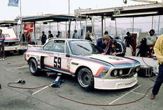 This is a photo of the winning BMW 3.0 CSL that Peter Gregg & Brian Redman drove to a win at the 1976 24 Hours of Daytona. Hurley Haywood drove a Brumos Porsche 911 Carrera RSR to third place.