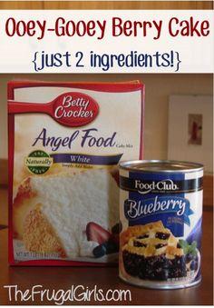 Gooey Blueberry Angel Food Cake Dessert Recipe from TheFrugalGirls.com