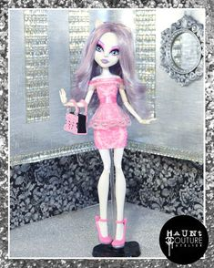 "Monster Doll ""Pretty in Pink"" high fashion outfit clothes dress"