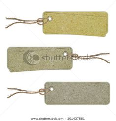 Blank tag  isolated on white background. Price tag, gift tag, sale tag - stock photo