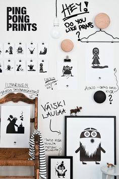 Ping Pong Prints - wall art for kids