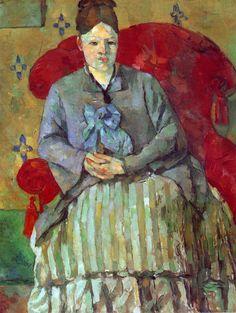 Paul Cézanne (Cezanne) - Madame Cezanne im roten Sessel
