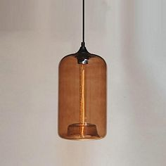Bottle Design Pendant, 1 Light, Minimalist Iron Painting - CAD $ 132.99