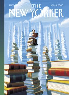 "The New Yorker - Monday, November 6, 2006 - Issue # 4190 - Vol. 82 - N° 37 - « Fall Books » - Cover ""Bookopolis"" by Eric Drooker"