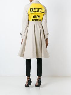 Moschino caution trench coat