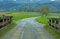 Gravel road at Cades Cove in the Great Smoky Mountains #beautiful #drive