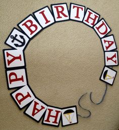 Nautical Birthday Party Banner  Customizable by 2CreativeGirls, $15.00