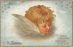 A Happy Christmas and a glad New Year, Cherub Angel, Stars 1904