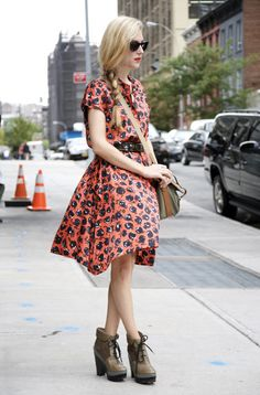 Floral Femme midi dress @roressclothes closet ideas #women fashion outfit #clothing style apparel