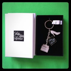 New signature Saks designer keychain Brand new in gift box. Authentic from Saks fifth avenue. ♏️er Cari available Saks fifth avenue  Accessories Key & Card Holders