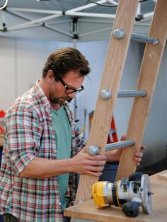 How to Build a Rolling Ladder : Decorating : Home & Garden Television: