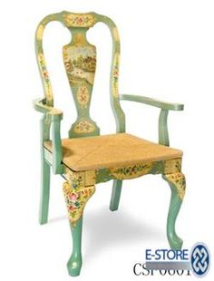 Whimsical Hand Painted Art Furniture   dresser folk art chair and decorative folk art