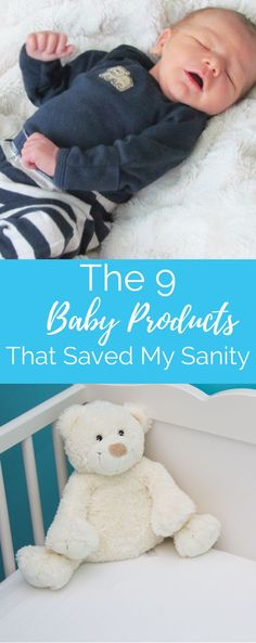There are so many baby products how do you know what is a must-have and what's a waste of money? These nine baby items saved my sanity the first year and should be on every baby registry. Don't forget our free printable registry checklist. #baby #babyproducts #babygear