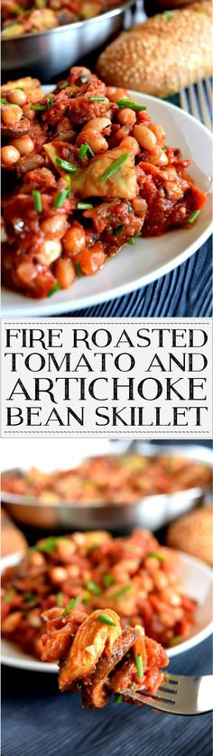 Fire Roasted Tomato and Artichoke Bean Skillet