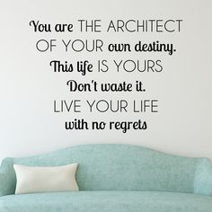 Add our Live Your Life quote to you walls for a inspiration! Select the size and…