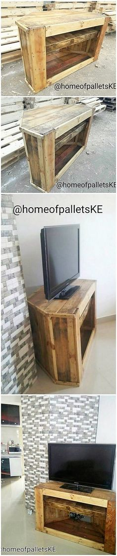 The Best and Easiest DIY Ideas with Recycled Wood Pallets: Let's give your dream home the feel of reality by showing you out with some of the mesmerizing and charming ideas of the old shipping wooden pallets. Wooden Pallet Projects, Wood Pallet Furniture, Wooden Pallets, Pallet House, Pallet Beds, Pallet Tv, Headboard Shapes, Rough Wood, Diy Tv Stand