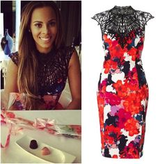 Rochelle from The Saturdays chose our new Kardashian Kollection dress for Valentine's Day with her hubby Marvin Humes!
