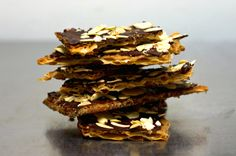 Chocolate Caramel Crack(ers) Adapted from David Lebovitz, who adapted it from Marcy Goldman who is the genius that first applied this to matzo. via smitten kitchen