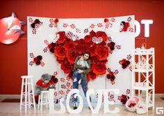 Valentines Day Weddings, Valentines Day Decorations, Valentines Diy, Birthday Decorations, Flower Decorations, Valentines Photo Booth, Valentine Backdrop, Valentine Mini Session, Valentine's Day Poster