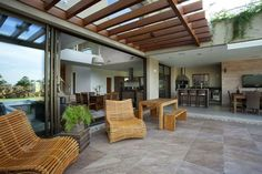 Pergola Design Ideas Adapted By Architects For Their Unique Projects - Interior Designs Pergola Designs, Patio Design, House Design, Outdoor Rooms, Outdoor Decor, Outdoor Living, Contemporary Patio, Modern Patio, Design Exterior